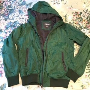 H&M green lined jacket